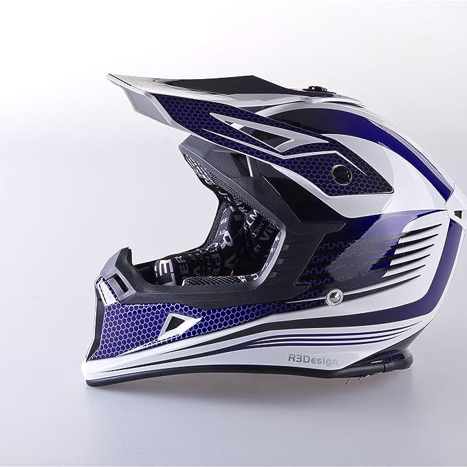 Amazon.es: VIPER RS X95 MOTOCROSS MOTO QUAD ATV DIRT ENDURO OFF ROAD DEPORTE CARRERAS MOTO CASCO AZUL (XS (53-54 CM))