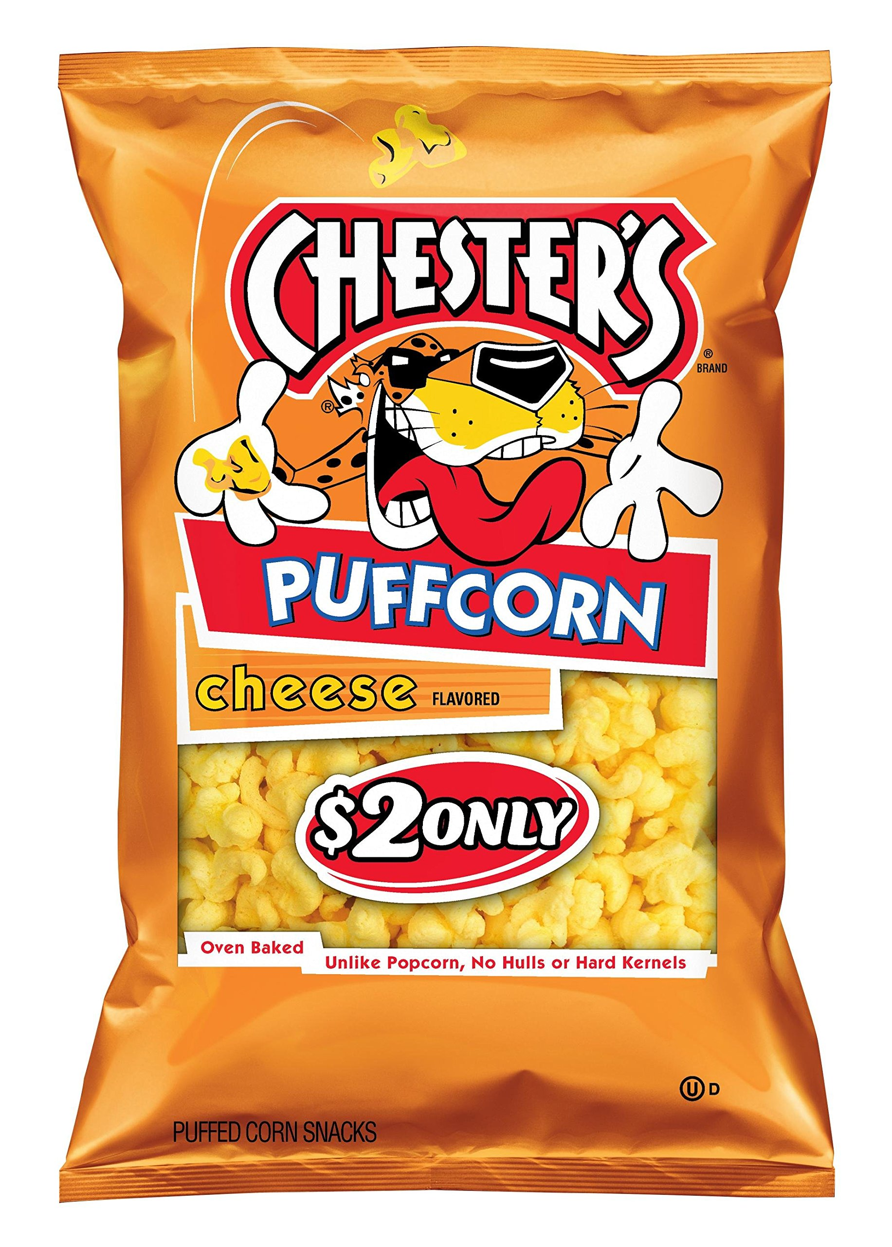 Chester's Puffcorn, Cheddar Cheese, 54 Ounce (Pack of 12)