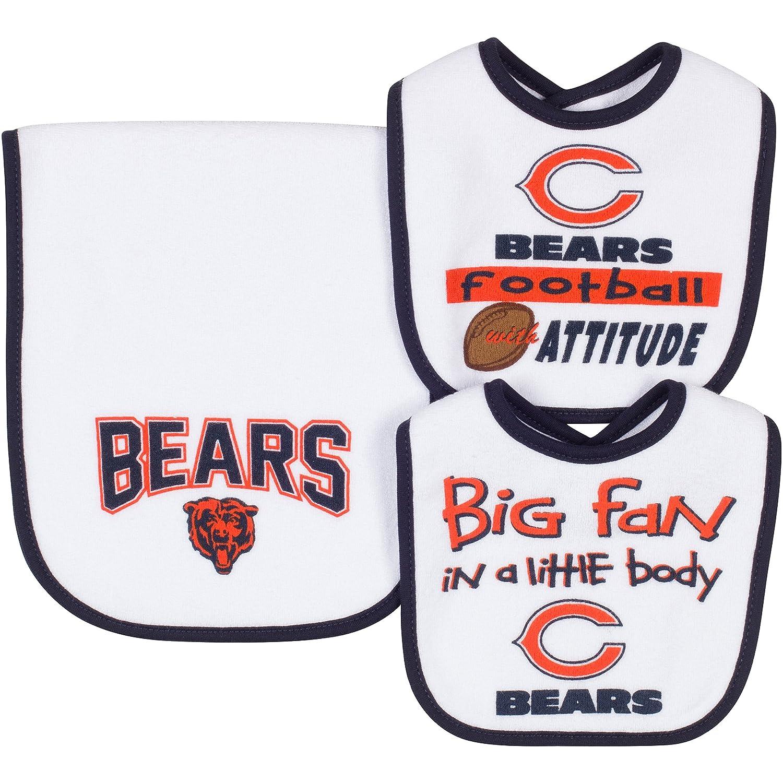 【人気急上昇】 NFL Chicago Bears & 2 Dribbler Bibs & 1 Burp Burp NFL Clothセット、1サイズ、ホワイト B00ZYE1NY4, ヒガシカグラチョウ:f485066c --- movellplanejado.com.br