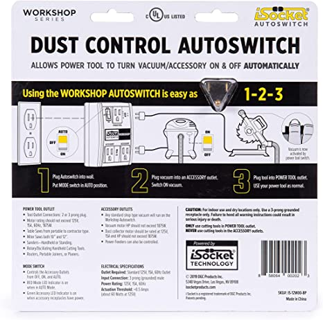 DGC Products 2 outlets I-Socket Autoswitch 1 Grounded