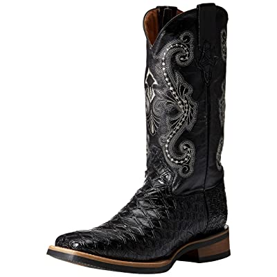 Ferrini Men's Print Anteater Western Boot, Black, 9 | Western
