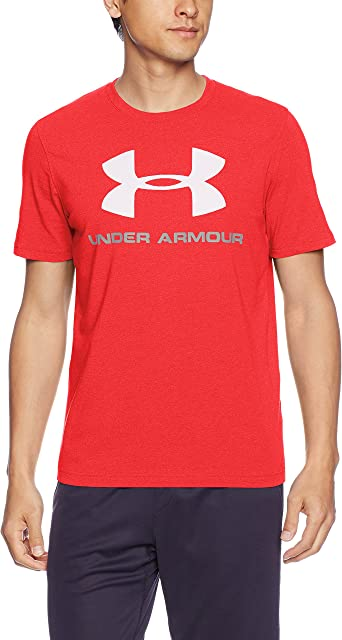 Under Armour Men/'s Gray UA Sportstyle Logo Graphic Short Sleeve T-Shirt