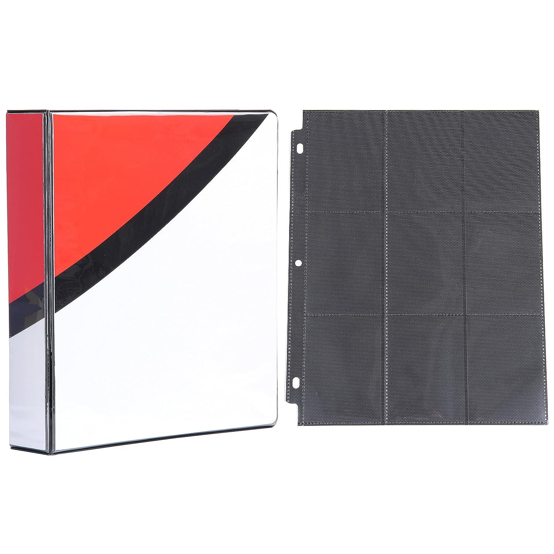 2インチ3リングバインダー ブラック9ポケットサイドロードページ25枚付き ポケモンカード用 B07DQBC1WM ウルトラボール