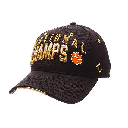 ZHATS Clemson Tigers 2016 College Football National Champs Vapor Tech Black  Flex Fit Hat Cap e77c15f43f76