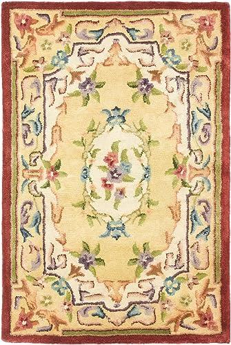 Safavieh Empire Collection EM822A Handmade Traditional European Gold Premium Wool Area Rug 2 x 3