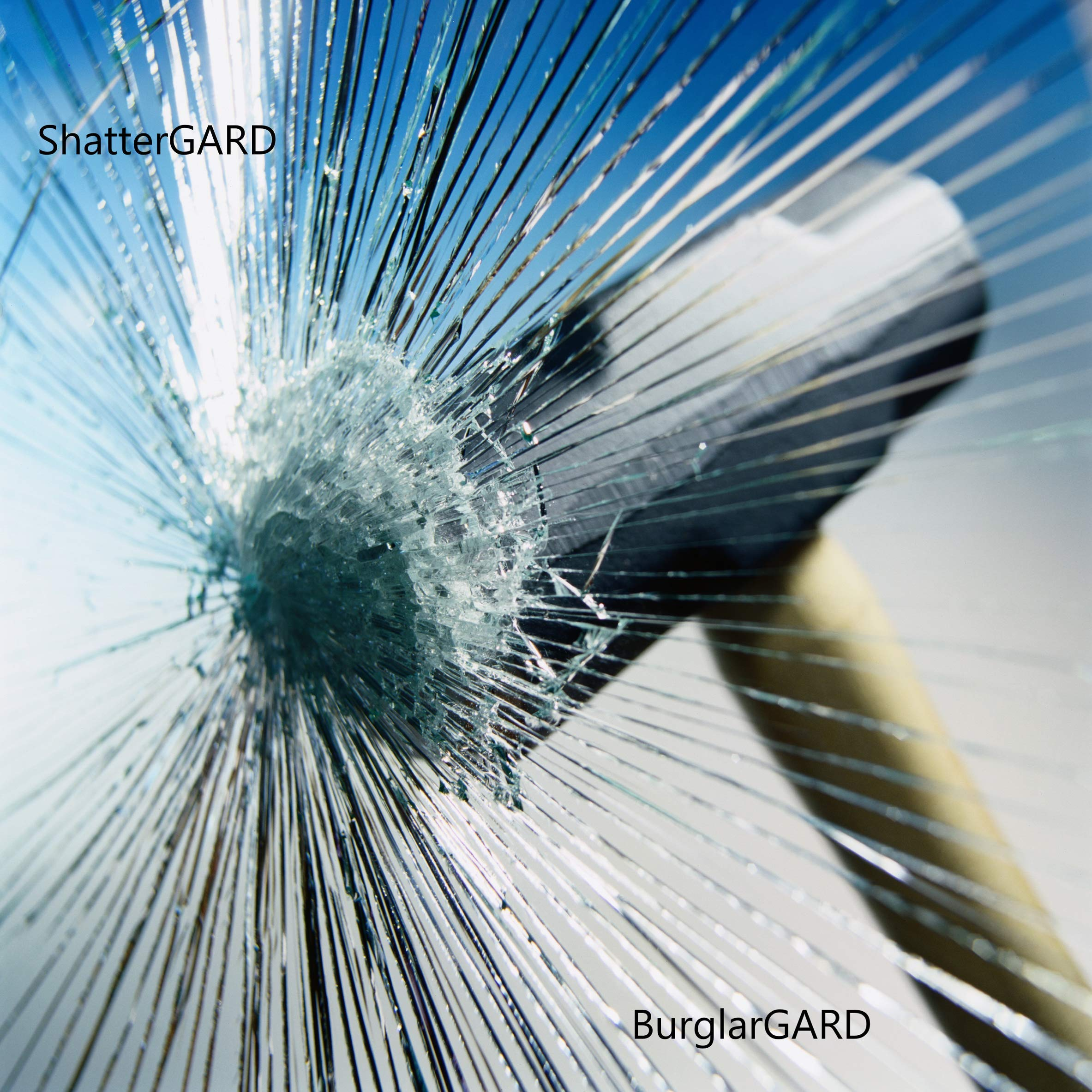 Glass Protection Film  36'' x 25` Inches   75 Sq Feet   Security Window Film Kits by ShatterGARD. (DIY) BurglarGARD Glass Protection Film Helps Defend Against Burglars, Violent Home Invaders by ShatterGard