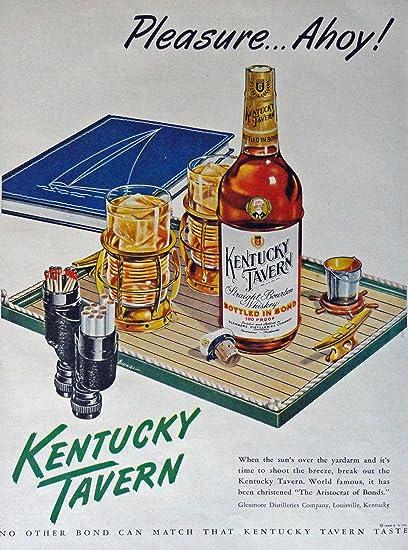 Amazon com: Kentucky Tavern Whiskey, 40's Print Ad  Color