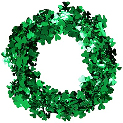 Gleam 'N Flex Shamrock Garland Party Accessory (1 count) (1/Pkg): Kitchen & Dining