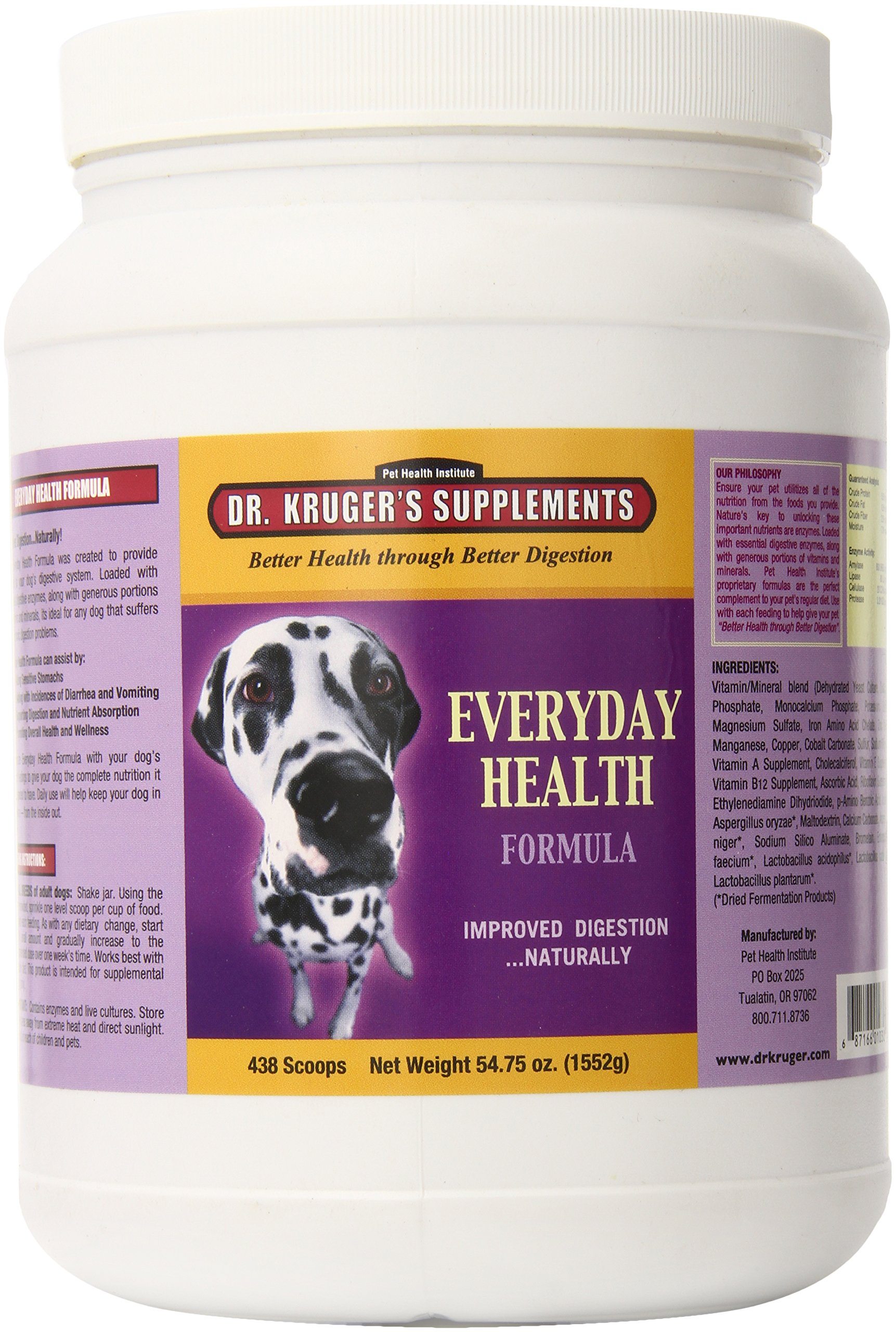 Dr. Kruger's Supplement Everyday Health Supplement for Dogs, 54.75-Ounce