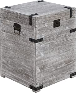 Convenience Concepts Laredo Trunk End Table, Weathered Gray