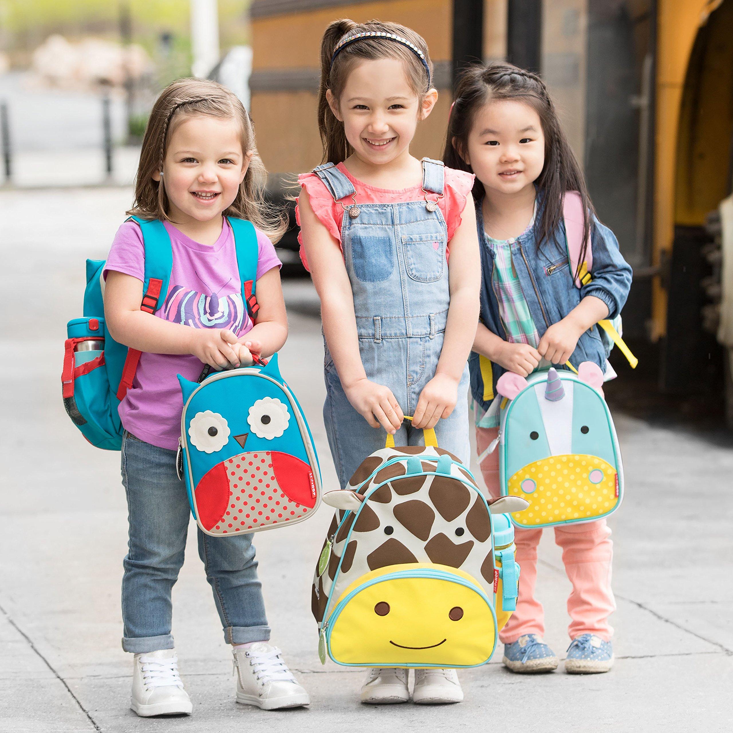 Skip Hop Zoo Kids Insulated Lunch Box, Otis Owl, 9''x3.25''x7.5'', Blue