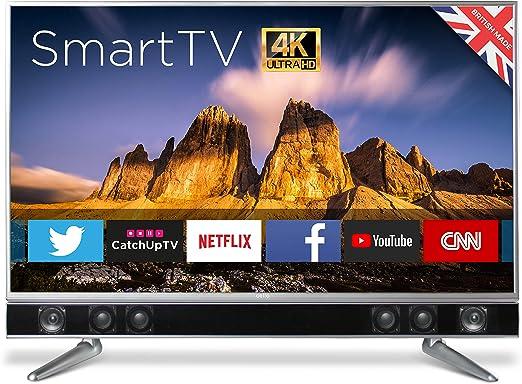 "CELLO P50ansmt-4k, 50"" Platinum 4k uhd Elegante androide de la TDT t2 HD led TV: Amazon.es: Electrónica"