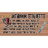 Amazon.com : Bathroom Rules Sign NHE-15938 Restroom ...