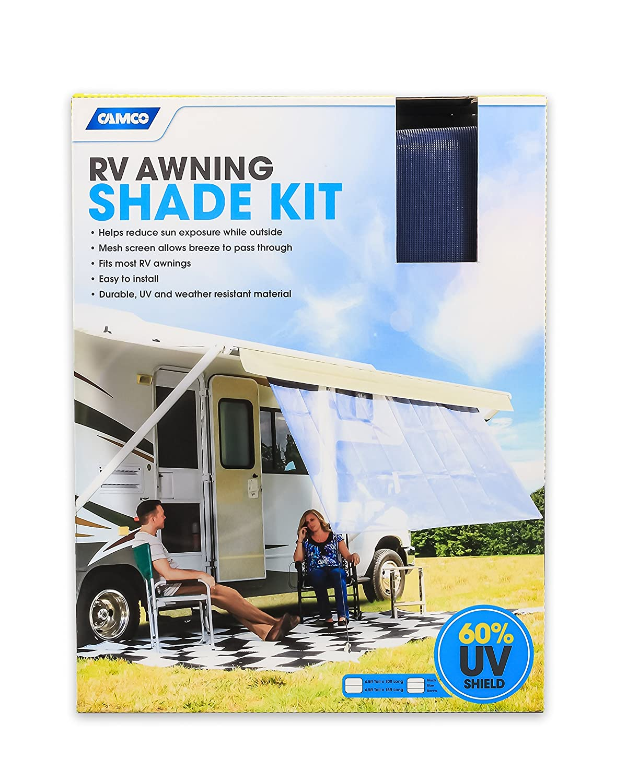 54 x 180 Blue Camco 51456 RV Awning Shade Kit