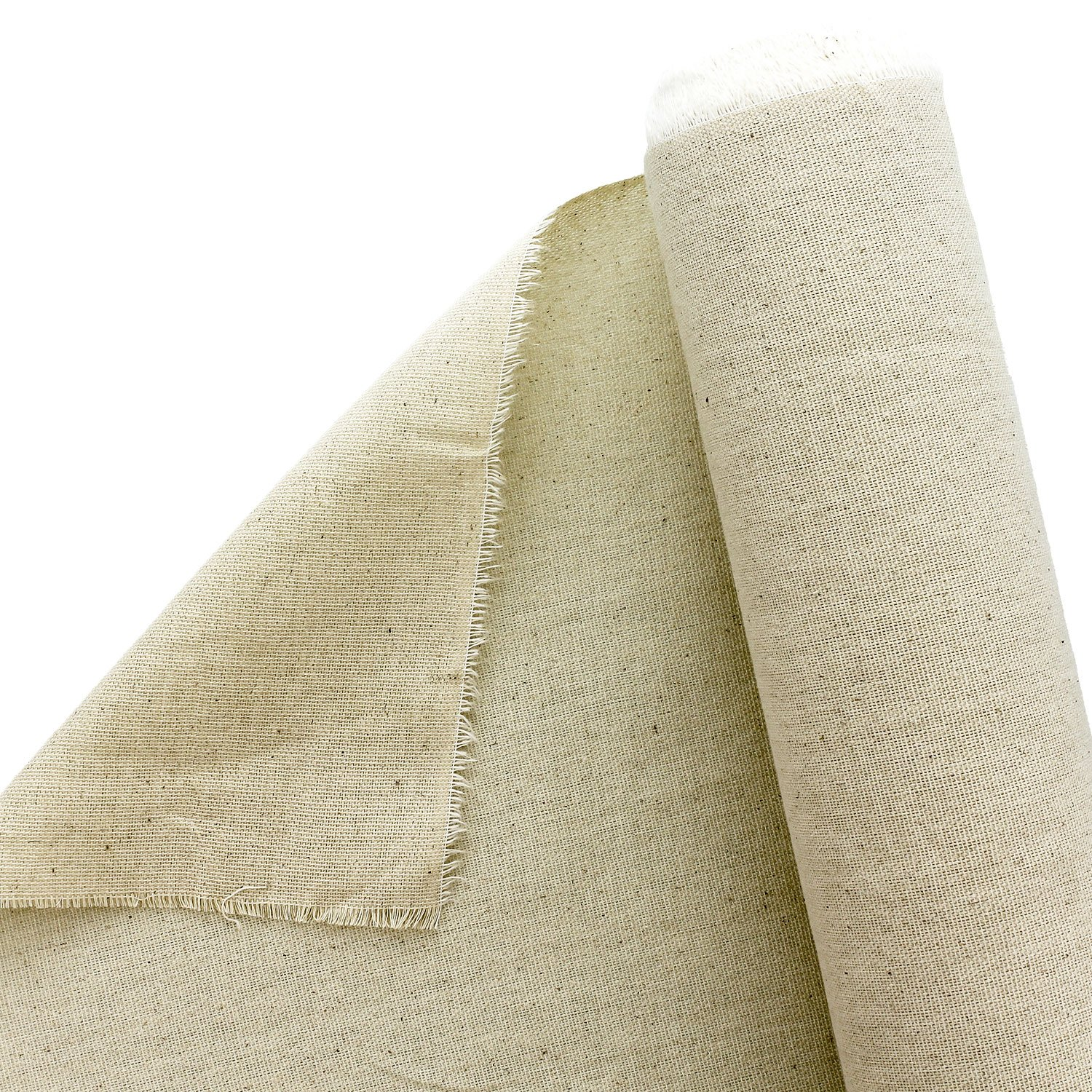U.S. Art Supply 63'' Wide x 6 Yard Long Canvas Roll - 100% Cotton 7 Ounce Un-Primed Artist Painting by US Art Supply