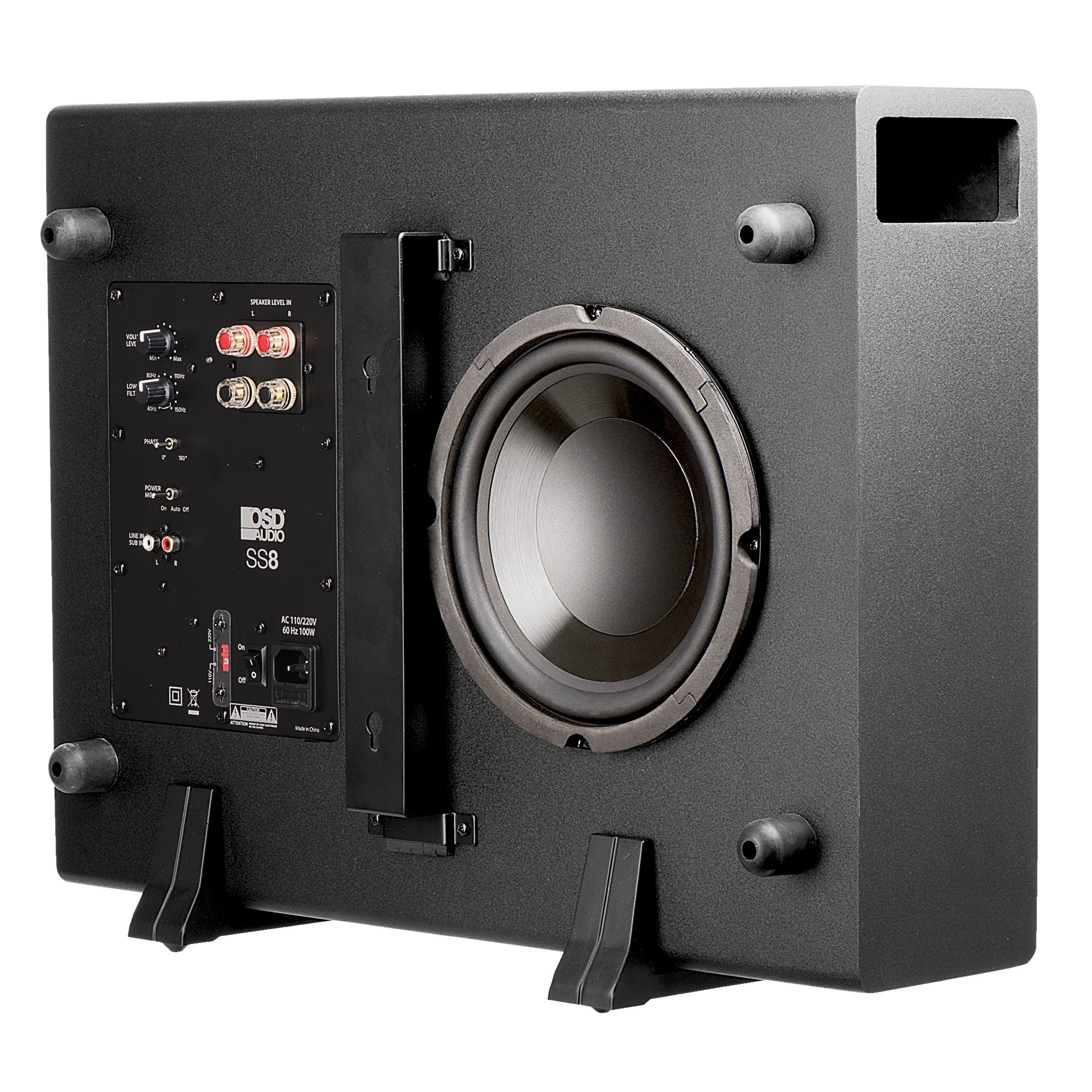 OSD Audio 200W Home Theater Powered Subwoofer - 8'' Woofer, Low Profile - SS-8 by OSD Audio