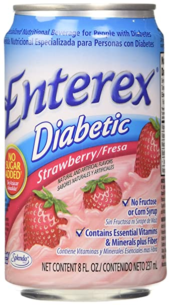Enterex Diabetic Strawberry 8 Oz
