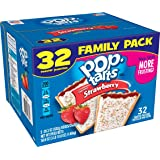 Pop-Tarts Breakfast Toaster Pastries, Frosted Strawberry Flavored, Family Pack, 58.6 oz (32 Count)