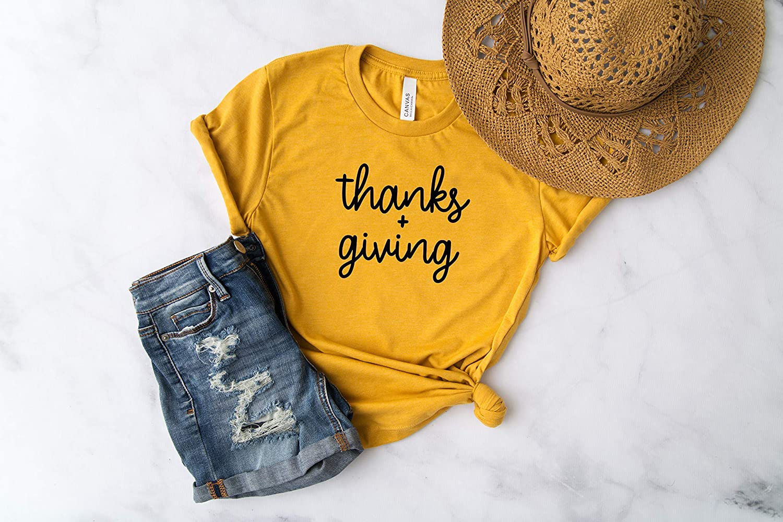Thanksgiving Top Thankful Shirt Grateful Religious Tee