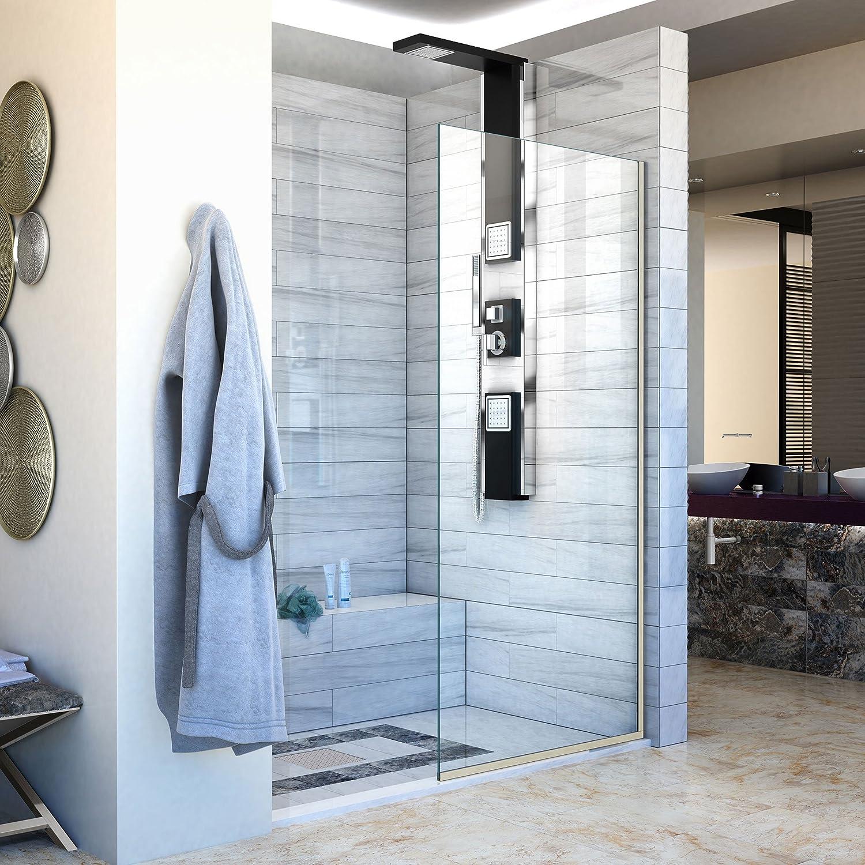 DreamLine Linea 30 in. Width, Frameless Shower Door, 3 8 Glass, Brushed Nickel Finish