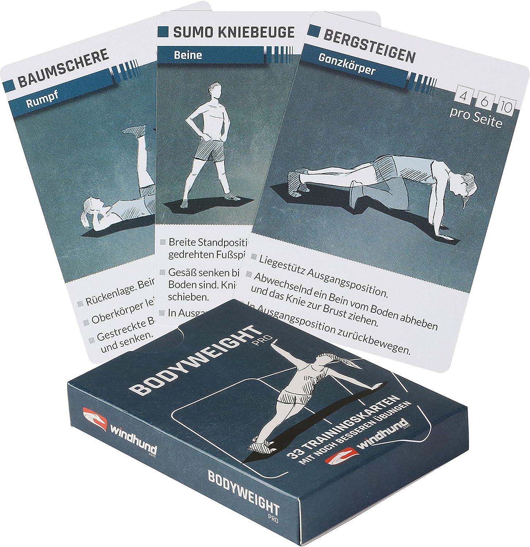 Windhund Trainingskarten Bodyweight pro - Übungen ohne Geräte 1
