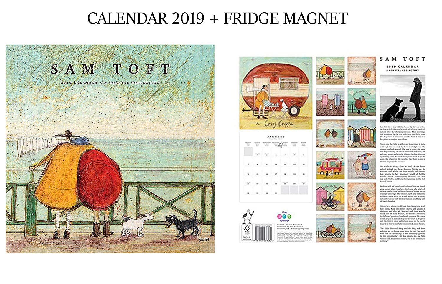 SAM Toft Official Calendar 2019 + SAM Toft Fridge Magnet giftscity