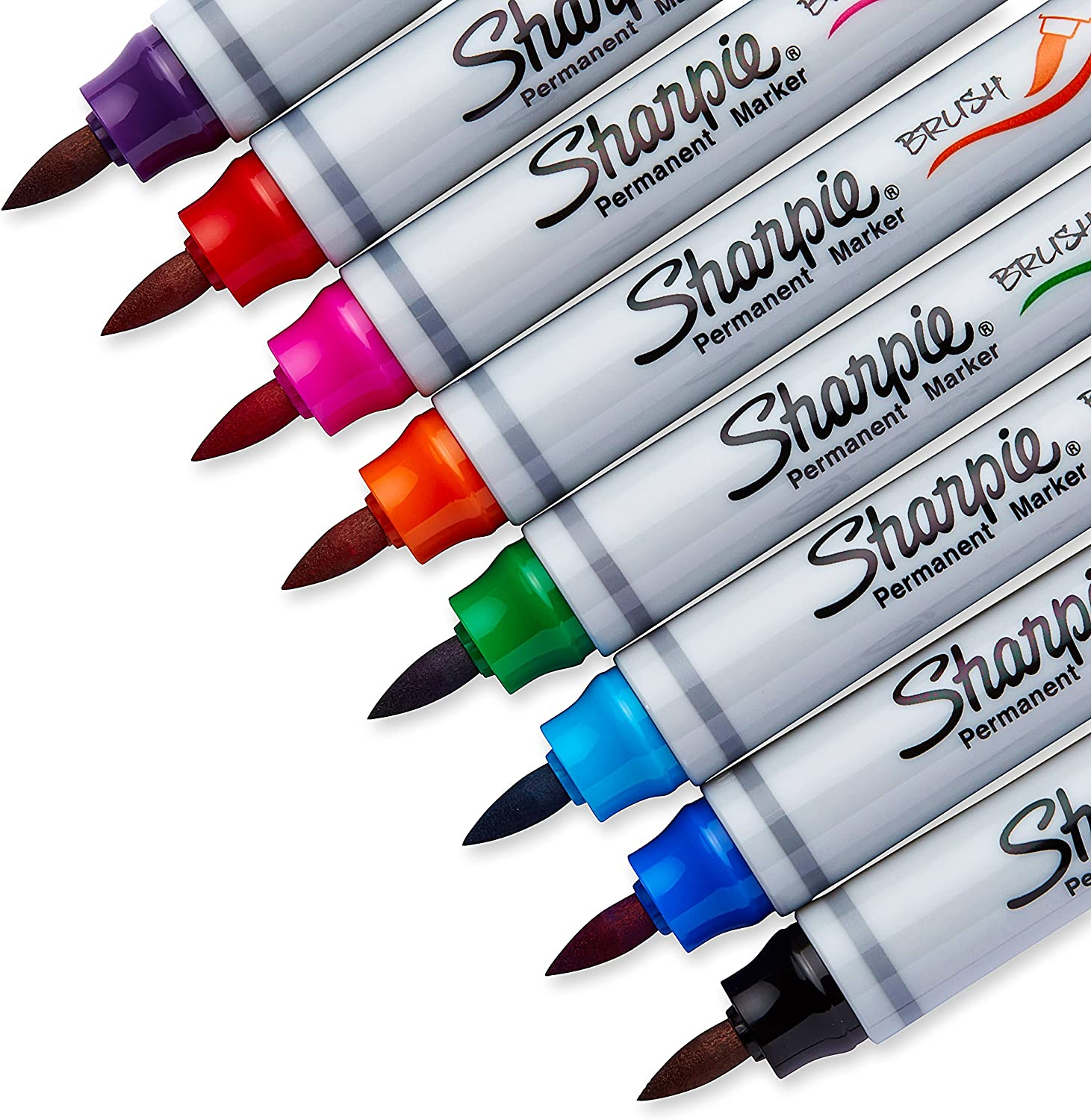4-Pack Sharpie 1810701 Brush Tip Permanent Marker Assorted Colors