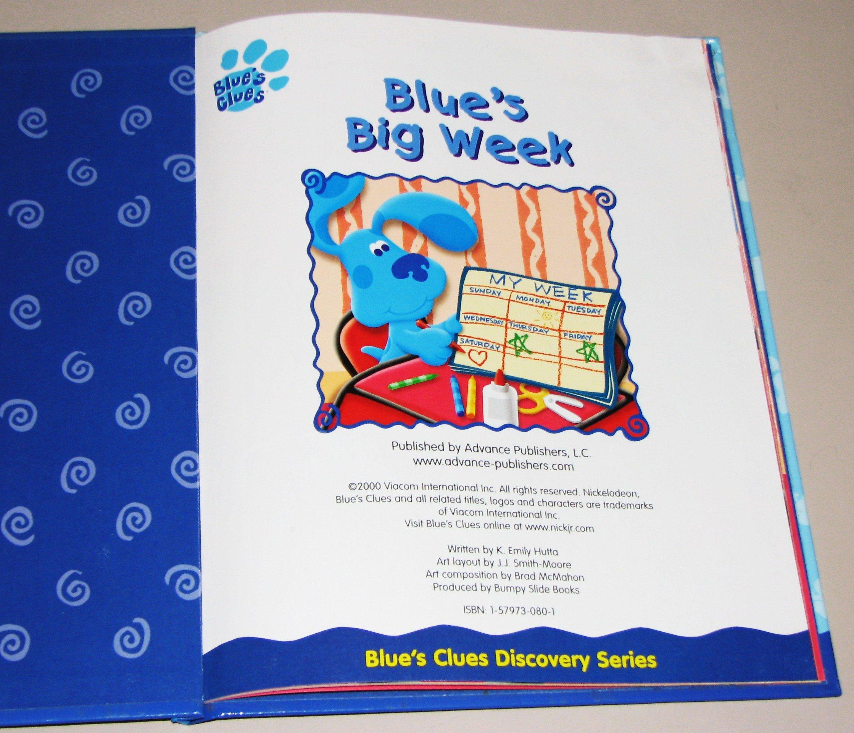 blue u0027s big week blue u0027s clues book 14 amazon com books