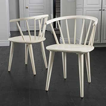 Tremendous Christopher Knight Home 296032 Countryside Rounded Back Spindle Dining Chair Antique White Alphanode Cool Chair Designs And Ideas Alphanodeonline