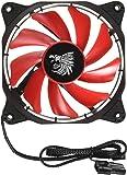 Eagle Warrior 654862208755 Ventilador Halo para Gabinete con Tubo de LED, Color Rojo, 12cm