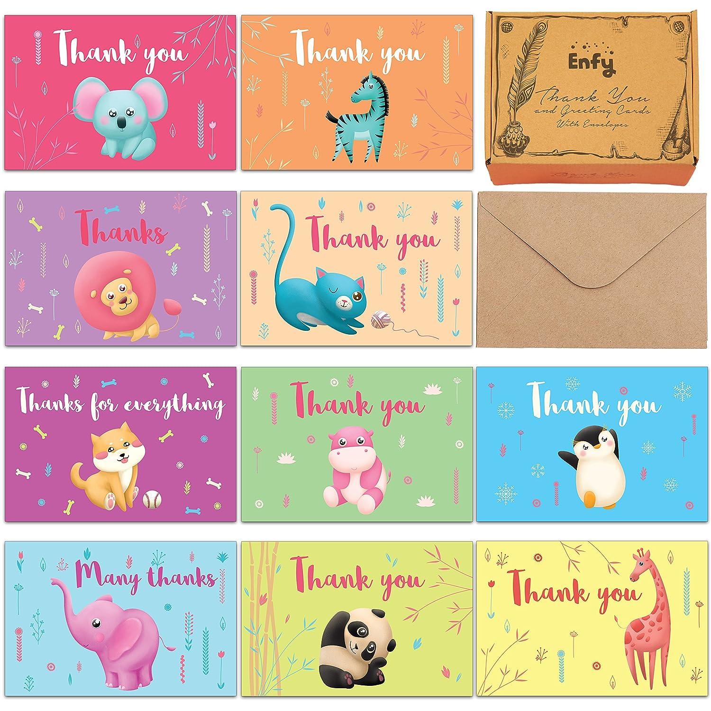 Amazon Safari Baby Shower Thank You Cards 60 Kids Birthday