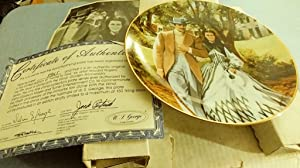 Collector Plate - Gone with the Wind - Golden Anniversary Series Plate #5 - Home To Tara
