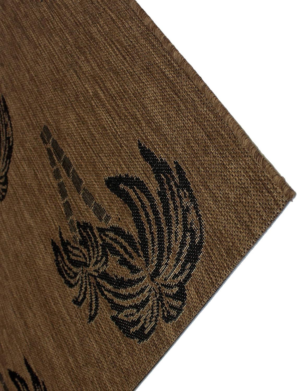 Sand Dollar Starfish Oasis Green Gertmenian 22039 Tropical Modern Outdoor Rug Simple Patio Carpet 2x6 Runner