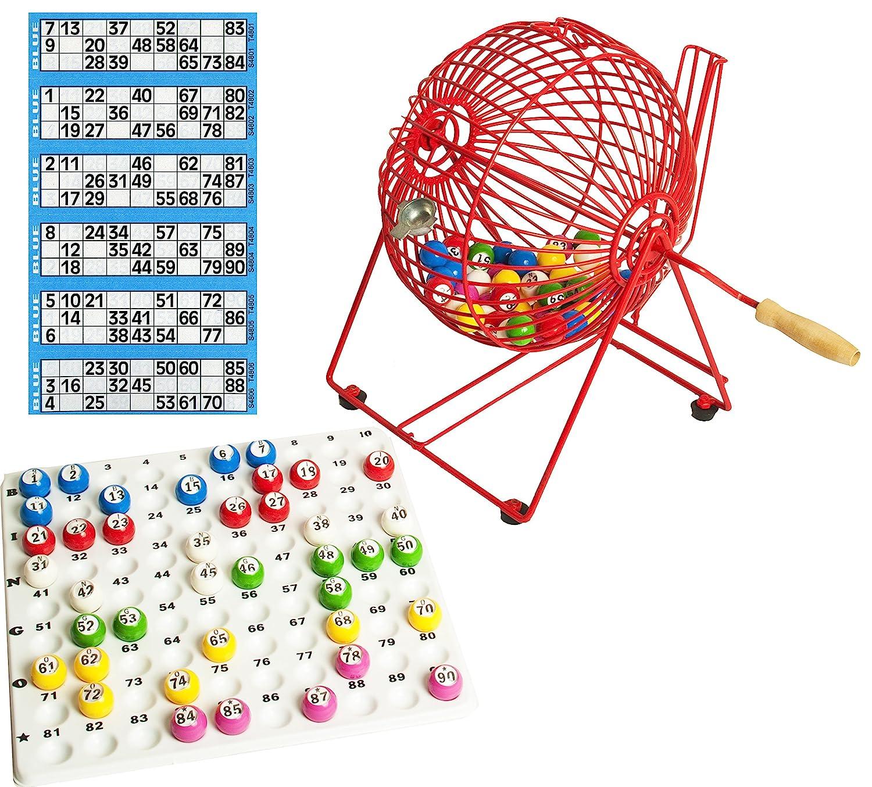 Bingokorb mit Kontrollablage und Kugeln mit Kostenlose Bingo-Tickets Thomas & Anca Club Supplies