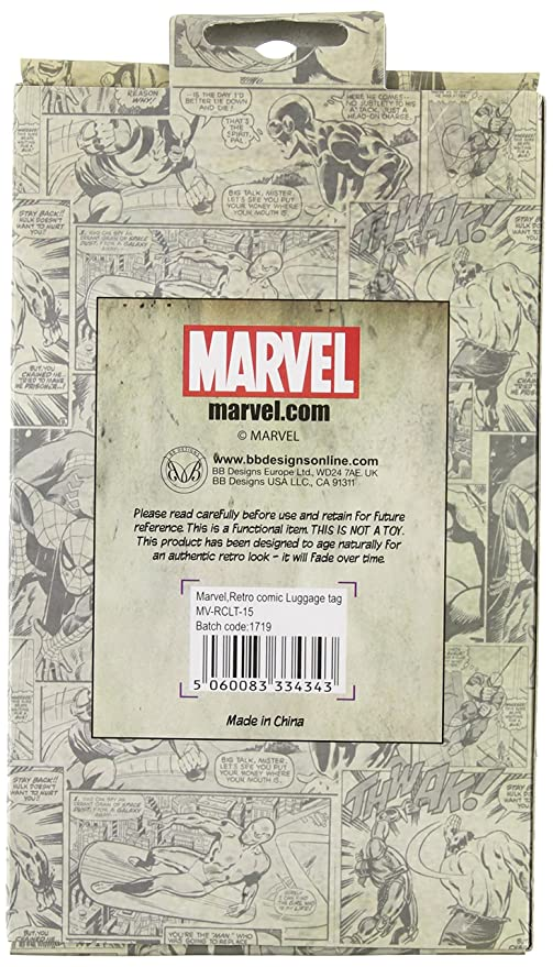 780139e8cdfb Marvel Comic Strip Luggage Tag