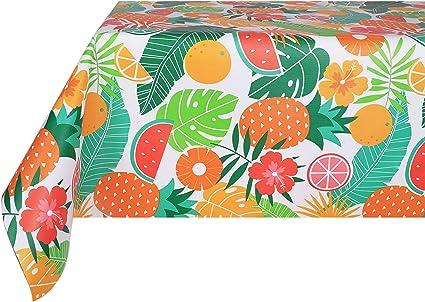 VINYLLA Pois Multicolore Facile da Pulire Vinile Trasparente tovaglia 140 x 180 cm