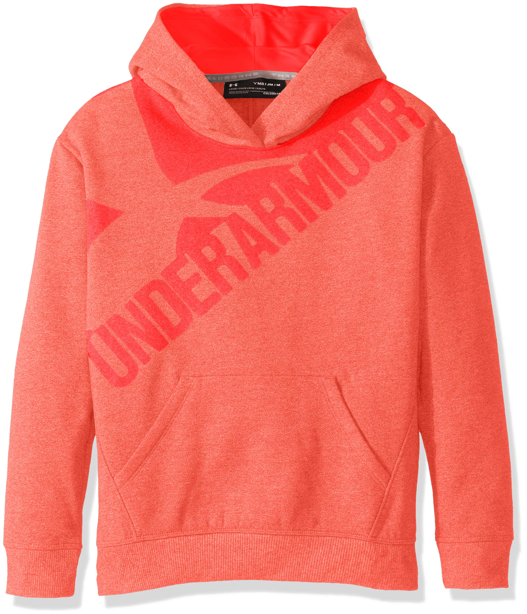 Under Armour Girls' Threadborne Novelty Fleece Hoodie,Marathon Red /Marathon Red, Youth Small