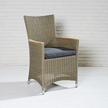 Gmbh Taupe Poly Chaise En Accoudoirs Wholesaler Rotin Jardin De Avec xrCBedoW