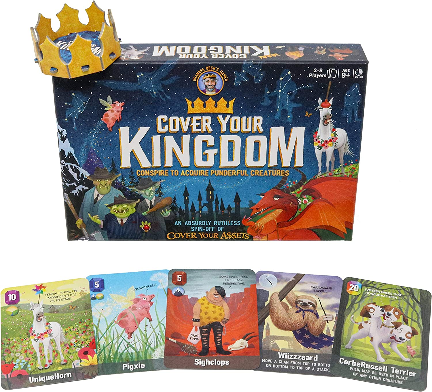 Cover Your Kingdom   Cover Your Assets Brand New & VERY Obnoxious Brother   A Magically Malicious Party Game for 2-8 Players 9+