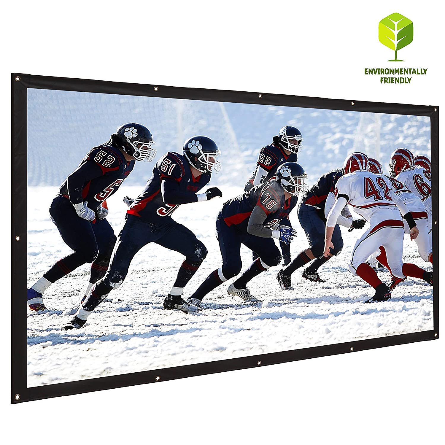 KPCB Portable Projector Screen Foldable Canvas Material for Home and Outdoor Movie 100 inch 16:9 Varmax