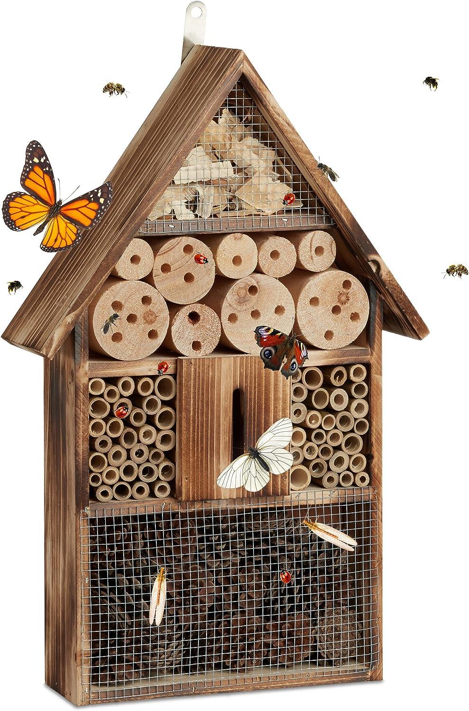 Relaxdays Casa para Insectos, Marrón, 9.5x31x48 cm, 10020721