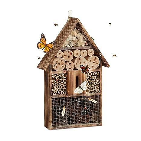 Relaxdays Insektenhotel 50 Cm Groß Zum Aufhängen Bienenhotel Und