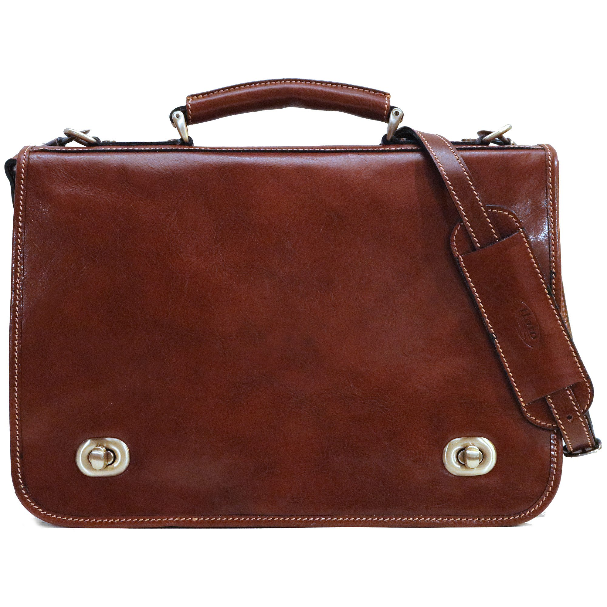 Floto Luggage Roma Messenger Bag, Brown, One Size