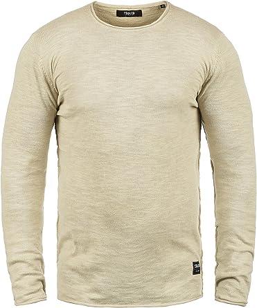 Solid Krimmich Jersey De Punto Suéter para Hombre con Cuello ...