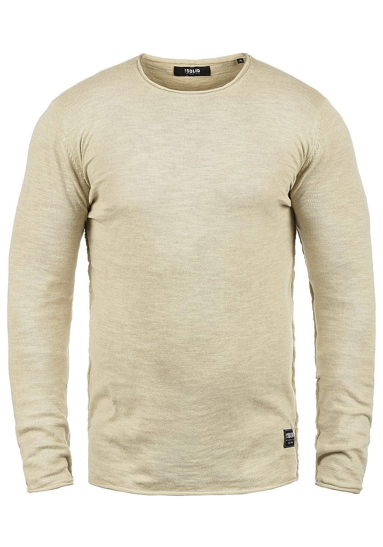 !Solid Krimmich Herren Strickpullover Feinstrick Pullover Mit Rundhals Aus 100% Baumwolle