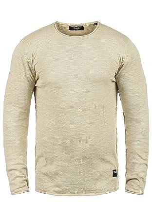 86768d08d2e0 Solid Krimmich Herren Strickpullover Feinstrick Pullover Mit Rundhals Aus  100% Baumwolle, Größe