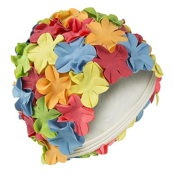100% de haute qualité nouveau design vente discount Bonnet de natation femme Style Vintage Swim Fashy Bonnet de bain Multi  couleur fleur pétale multicolore)