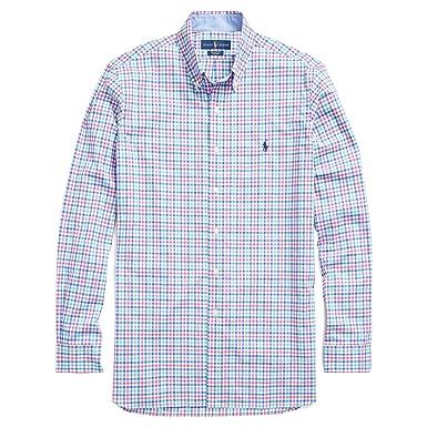 8736c288 RALPH LAUREN Men's Dress Shirt Big and Tall Long Sleeve Poplin Stretch  Cotton (XLT,