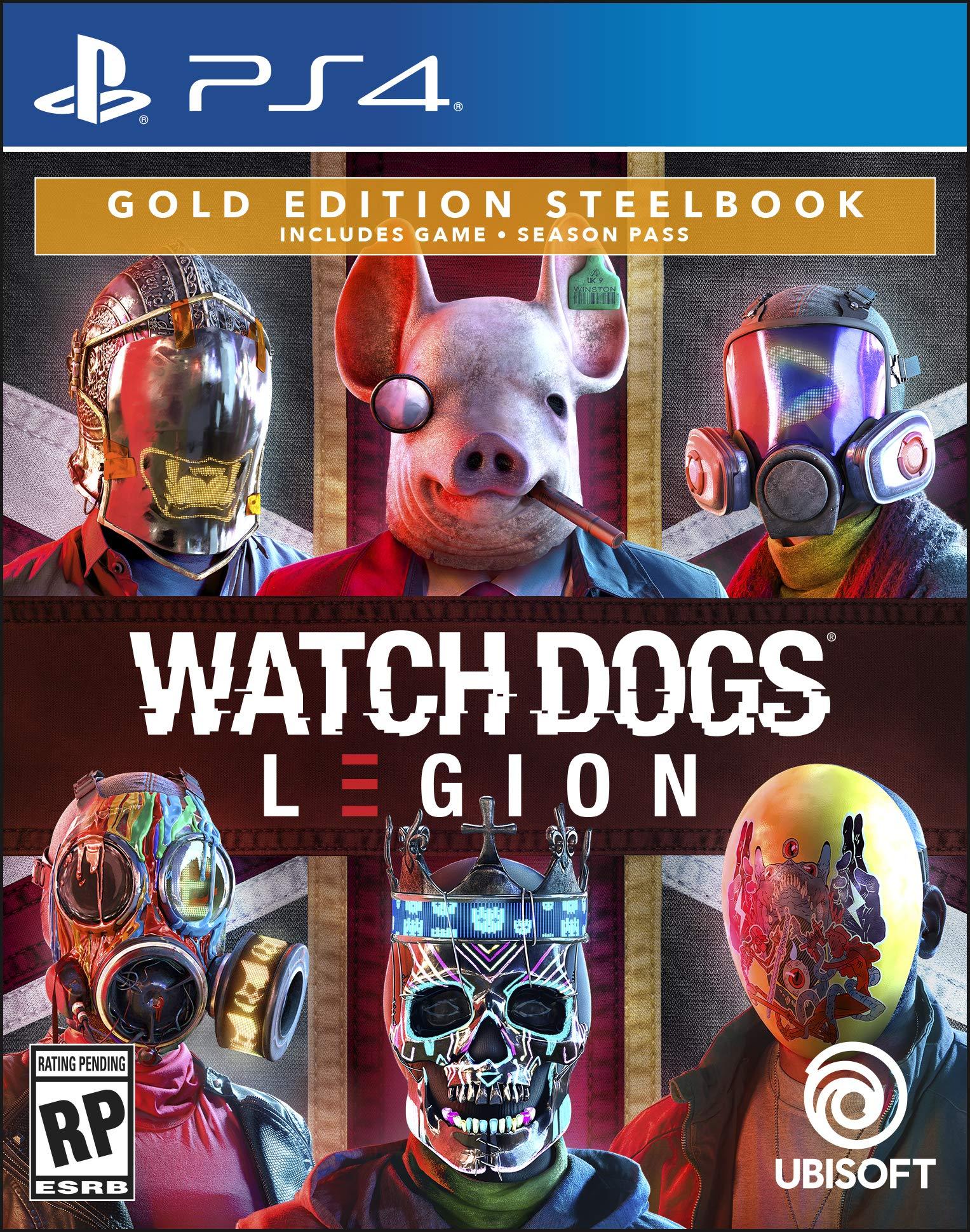 Watch Dogs Legion - PlayStation 4 Gold Steelbook Edition