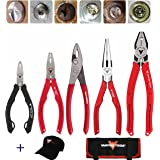 VamPLIERS World's Best Pliers! 5-PC Set VT-001-S5BPC Specialty Screw Extraction Pliers. Extract Stripped, Stuck, Security or Rusted Screws + Vampire Tools Cap & Handy Tool Organizer Pouch